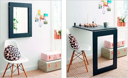Muebles funcionales para optimizar espacios peque os - Mesas de pared abatibles ...