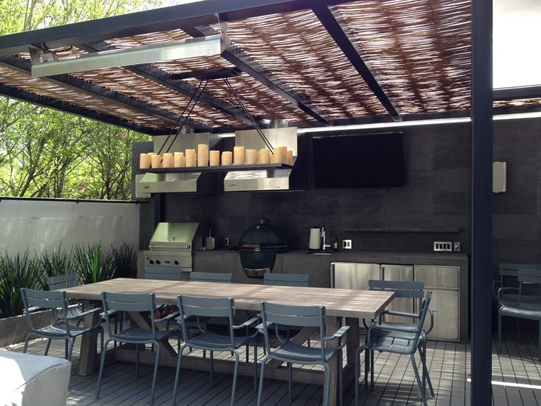 Ideas de p rgolas en hierro y madera para terrazas limay for Diseno terrazas modernas