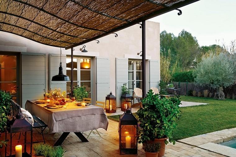 ideas de prgolas en hierro y madera para terrazas