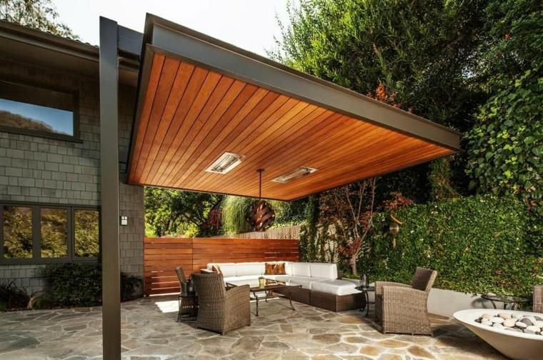 Ideas de p rgolas en hierro y madera para terrazas limay - Maderas para terrazas ...