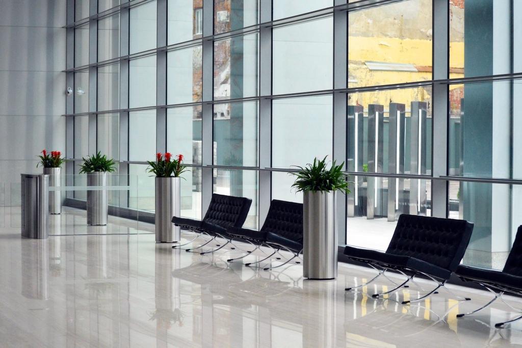Arquitectura Corporativa en hall de entrada