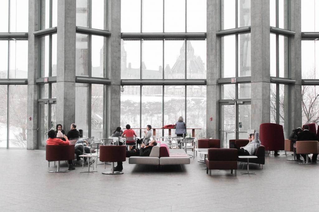 Arquitectura Corporativa en recepción de edificio